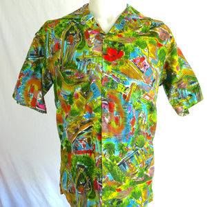 Diamond Head Hawaian Shirt Vintage Mens